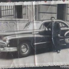 Fotografía antigua: FOTOGRAFIA TAMAÑO POSTAL DE GRAN COCHE AMERICANO MATRICULA DE BURGOS BU 3703. FOTO LOZANO MADRID. Lote 142960874