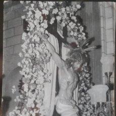 Fotografía antigua: FOTOGRAFIA DEL CRISTO DE FUENTEALBILLA, ALBACETE.. Lote 142961354