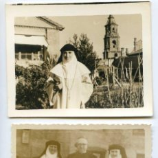Fotografía antigua: DOS FOTOS DE RELIGIOSAS, MONJAS EN CONVENTO A IDENTIFICAR 9X6,8 CM. Lote 145189446