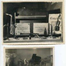 Fotografía antigua: LOTE 12 FOTOS Y NEGATIVOS TIENDA INSTRUMENTOS MÚSICA EN PAU, GAVEAU, SAXOFÓN, PIANO VIOLÍN. Lote 146063702