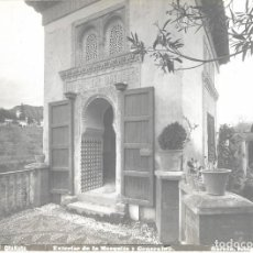 Fotografía antigua: FOTOGRAFÍA RAFAEL GARZON S. XIX EXTERIOR DE LA MEZQUITA Y GENERALIFE GRANADA 20,5 X15,5CM. Lote 147228750