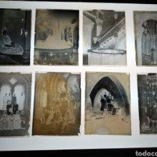 Fotografía antigua: LOTE PLACAS DE GELATINO BROMURO DEL AÑO 1900 MONASTERIOS DE CATALUÑA.. Lote 147514089