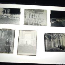 Fotografía antigua: LOTE 6 PLACAS DE GELATINO BROMURO DEL AÑO 1900. BARCELONA MONASTERIOS Y PUEBLOS. Lote 147517221