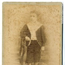 Fotografía antigua: FOTO J.GARCAIA -BARCELOBA RETRATO NIÑO TAMAÑO IMPERIAL SIN REVERSO. Lote 147632358