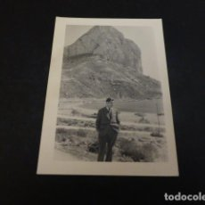 Fotografía antigua: CALPE ALICANTE VISTA DEL PEÑON FOTOGRAFIA. Lote 147927502