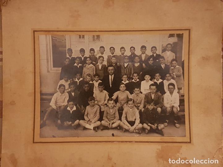 GRUPO CLASE ESCOLAR (Fotografía Antigua - Gelatinobromuro)