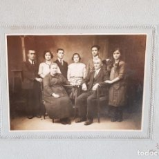 Fotografía antigua: ANTIGUA FOTOGRAFÍA FAMILIAR / FOTO M. SENDRA - MASNOU / PPOS. S. XX / 26 X 21 CM.. Lote 151393818