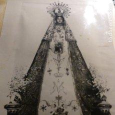 Fotografía antigua: TEJARES SALAMANCA VIRGEN DE LA SALUD EN ANDAS REGALO MARQUESES DE CASTELLANOS FOTOGRAFIA ANTIGUA . Lote 153660382