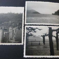 Fotografía antigua: SAN SEBASTIAN 3 FOTOGRAFIAS 1954 7,2 X 10,2 CMTS. Lote 154410726