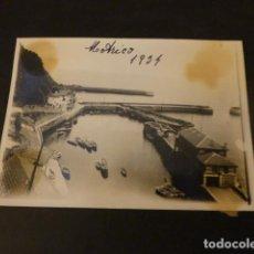 Fotografía antigua: MOTRICO VIZCAYA PUERTO 1934 FOTOGRAFIA 6,4 X 9 CMTS. Lote 154635658