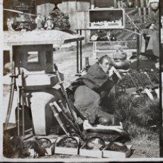Fotografía antigua: JAPÓN - 1745. BAZAR À YÉDO, CRISTAL POSITIVO ESTEREO ILUMINADO A MANO 8,4X17CM. S. XIX. Lote 154680690