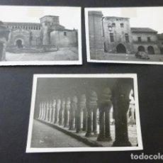 Fotografía antigua: SANTILLANA DEL MAR CANTABRIA 3 FOTOGRAFIAS ANTIGUAS 6 X 9 CMTS. Lote 154826254