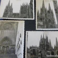 Fotografía antigua: BURGOS LA CATEDRAL 4 FOTOGRAFIAS ANTIGUAS 7 X 10 CMTS . Lote 154942326