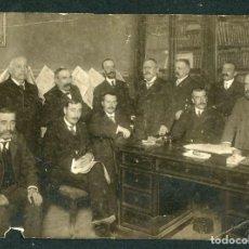 Fotografía antigua: ZARAGOZA. PERIODISTAS O POLÍTICOS. PRENSA DE DIFERENTES PARTES DE ESPAÑA. F: FREUDENTHAL. C.1900. Lote 155376722