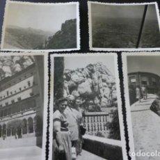 Fotografía antigua: MONTSERRAT BARCELONA 8 FOTOGRAFIAS ANTIGUAS 7 X 11 CMTS . Lote 155760278