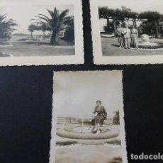 Fotografía antigua: SANTANDER SARDINERO 3 FOTOGRAFIAS ANTIGUAS 7,5 X 10 CMTS . Lote 155761578