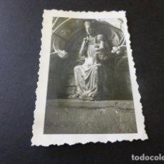 Fotografía antigua: CASTRO URDIALES CANTABRIA VIRGEN GOTICA ANTIGUA FOTOGRAFIA 7,5 X 10,5 CMTS. Lote 155775406
