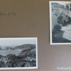 Fotografía antigua: TOSSA DE MAR GERONA 2 FOTOGRAFIAS POR EMBAJADOR BRITANICO EN ESPAÑA JOHN BALFOUR 1951. Lote 155823566