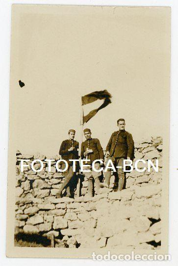 FOTO ORIGINAL SOLDADOS DE REEMPLAZO CATALANES POSIBLEMENTE PROTECTORADO ESPAÑOL MARRUECOS AÑO 1922 (Fotografía Antigua - Gelatinobromuro)