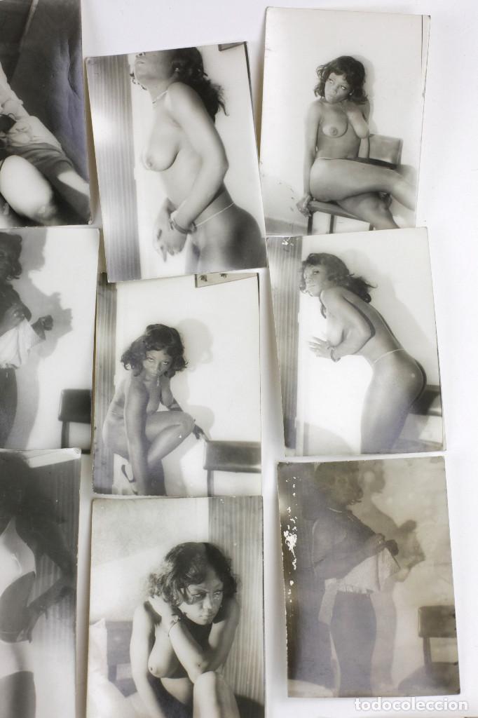 Alte Fotografie: Erotismo, lote de 47 fotografías de una misma mujer, 1970's. tamaño: 7,5x10,4 cm. ver fotos anexas. - Foto 3 - 156946402