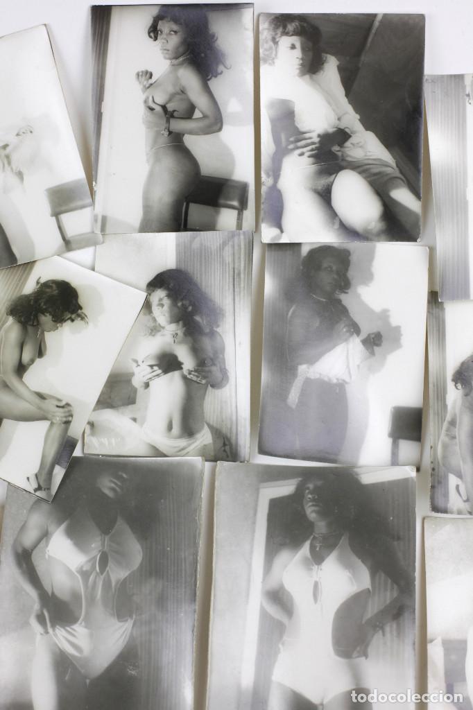 Alte Fotografie: Erotismo, lote de 47 fotografías de una misma mujer, 1970's. tamaño: 7,5x10,4 cm. ver fotos anexas. - Foto 4 - 156946402