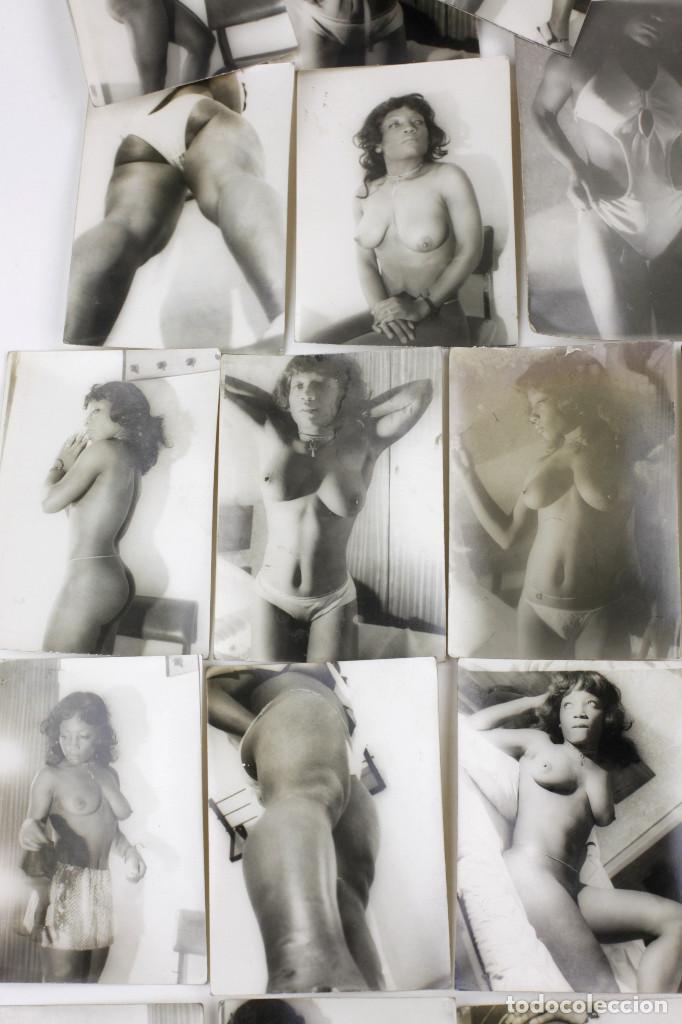 Alte Fotografie: Erotismo, lote de 47 fotografías de una misma mujer, 1970's. tamaño: 7,5x10,4 cm. ver fotos anexas. - Foto 5 - 156946402