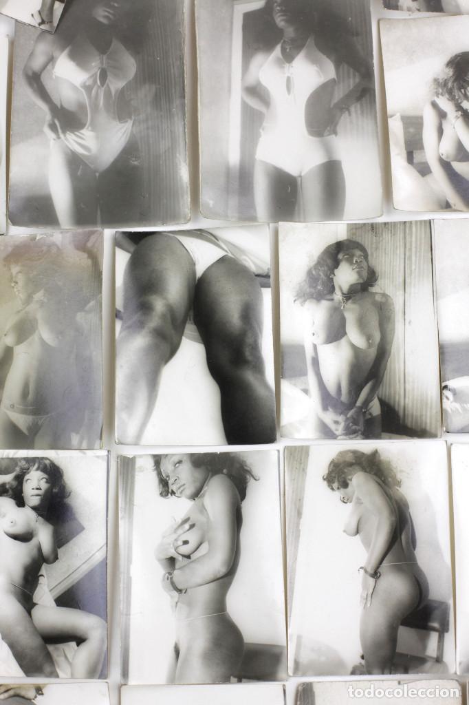 Alte Fotografie: Erotismo, lote de 47 fotografías de una misma mujer, 1970's. tamaño: 7,5x10,4 cm. ver fotos anexas. - Foto 6 - 156946402