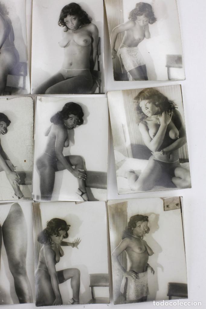 Alte Fotografie: Erotismo, lote de 47 fotografías de una misma mujer, 1970's. tamaño: 7,5x10,4 cm. ver fotos anexas. - Foto 8 - 156946402