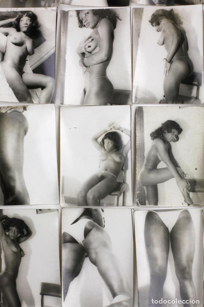 Alte Fotografie: Erotismo, lote de 47 fotografías de una misma mujer, 1970's. tamaño: 7,5x10,4 cm. ver fotos anexas. - Foto 9 - 156946402