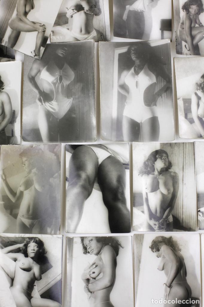 Alte Fotografie: Erotismo, lote de 47 fotografías de una misma mujer, 1970's. tamaño: 7,5x10,4 cm. ver fotos anexas. - Foto 11 - 156946402