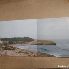 Fotografía antigua: FOTOGRAFIA CON DOS TOMAS SUPERPUESTAS DE TORREDEMBARRA, TARRAGONA. MEDIDAS 27X 12 CM. Lote 157714270