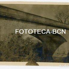 Fotografía antigua: FOTO ORIGINAL FRANCIAC PUENTE CALDES DE MALAVELLA AÑO 1925. Lote 158204006