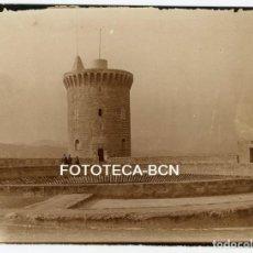 Fotografia antica: FOTO ORIGINAL CASTILLO DE BELLVER TORREON PALMA DE MALLORCA AÑOS 20 BALEARES. Lote 161361486