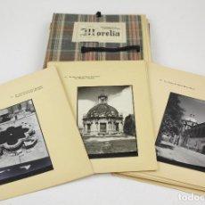 Fotografía antigua: MORELIA - ENRIQUE A. CERVANTES, PORFOLIO CON 50 FOTOGRAFÍAS ORIGINALES, AÑO 1944. MEXICO.. Lote 161822162