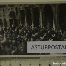 Fotografía antigua: PROCESION EN AVILES ASTURIAS MILITARES. Lote 162176814