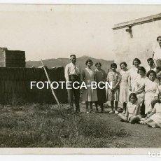 Fotografía antigua: FOTO ORIGINAL FABRICA DE LADRILLOS POSIBLEMENTE BARCELONA O ALREDEDORES COLLSEROLA AÑOS 30. Lote 163446570