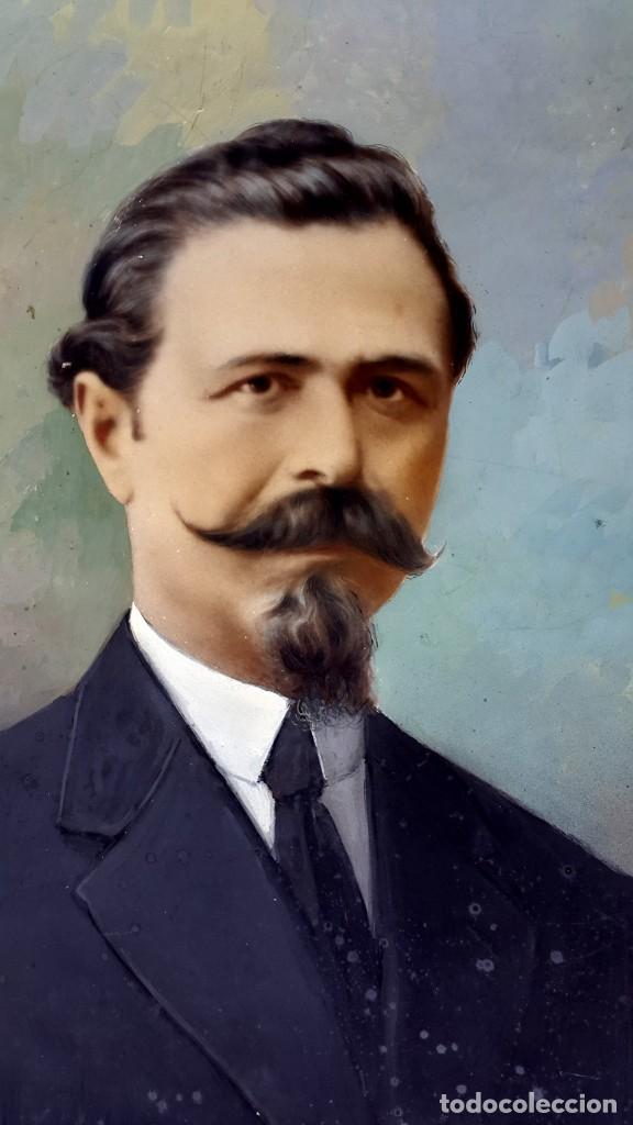 RETRATO - OVALADO - 1900 - COLOREADO (Fotografía Antigua - Gelatinobromuro)