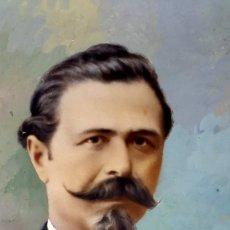 Fotografía antigua: RETRATO - OVALADO - 1900 - COLOREADO . Lote 164244058