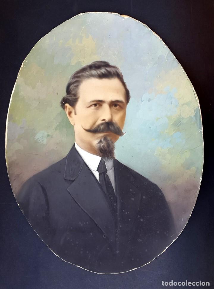Fotografía antigua: RETRATO - OVALADO - 1900 - COLOREADO - Foto 2 - 164244058