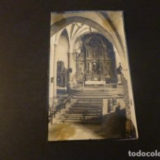 Fotografía antigua: LABASTIDA ALAVA INTERIOR DE LA IGLESIA FOTOGRAFIA 8,5 X 11 CMTS. Lote 165011918