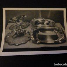 Fotografía antigua: FOTOGRAFIA PIEZAS VAJILLA PLATA AÑOS 40 JOYERIA AGRUÑA CALLE ZARAGOZA MADRID . Lote 165386722