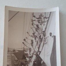 Fotografía antigua: CUERPO GRUMETES BARCO VAPOR AÑOS 30. Lote 165670474