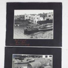 Fotografía antigua: CASA DALÍ - PORTLLIGAT . 2 FOTOGRAFÍAS DE JOSEP CAMPRUBÍ. 1950S. FOTOS 18X24CM.. Lote 165953682