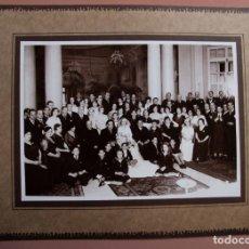Fotografía antigua: FOTO DE BODA. FOTO DE GRUPO. BCN. F: MATEO. C.1930. Lote 166045402