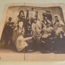 Fotografía antigua: INTERESANTE FOTOGRAFÍA DE GRUPO DE TEATRO O SIMILAR. SIGLO XIX. . Lote 167493976