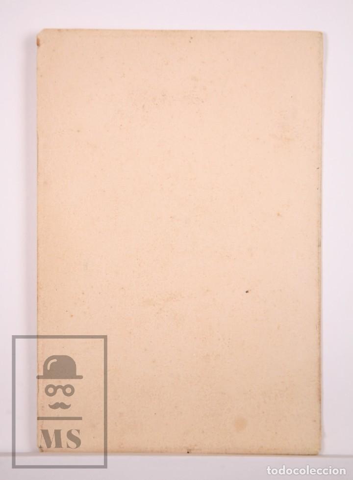 Fotografía antigua: Antigua Fotografía en Color - Retrato de Niña - Fot. Alonso, Barcelona - Años 40-50 - Foto 3 - 168569908