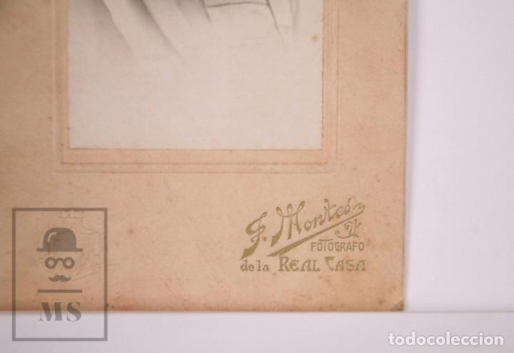 Fotografía antigua: Antigua Fotografía - Retrato de Mujer - J. Montes, Fotógrafo de la Real Casa - Foto 2 - 168570280