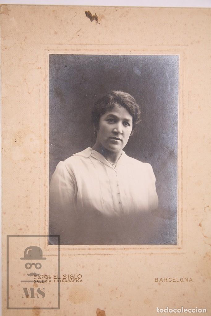 Fotografía antigua: Antigua Fotografía - Retrato de Mujer - Grandes Almacenes El Siglo, Barcelona - Foto 2 - 168573480