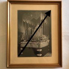 Fotografía antigua: SEMANA SANTA SEVILLA. ESPECTACULAR CUADRO DE LA VIRGEN DE LAS AGUAS, HDAD. DEL MUSEO. FOTO: ALBARRÁN. Lote 168930358