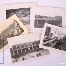 Fotografía antigua: 5 FOTOGRAFÍAS CONSTRUCCIÓN DEL AMBULATORIO DE MEDINA DE RIOSECO, VALLADOLID - CARVAJAL, AÑOS 40-50. Lote 170937140